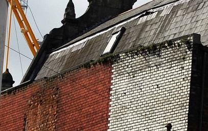Close up of brickwork on building